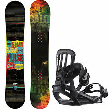 Salomon Pulse Snowboard + Salomon Pact Binding – Men's Snowboard Set