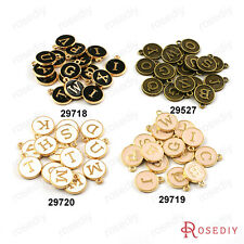 12.5MM Zinc Alloy Random mixed Letter Charms Jewelry Findings Accessories 29527
