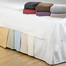 15-Inch Drop BedSkirts Twin XL Queen King Size Bed Frame Dust Ruffle Bedskirt