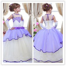 Flower Girl Dress Birthday Wedding Pageant Party Bridesmaid Prom Ball Gown 2-14