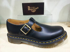 New Dr. Martens Polley Bar Shoe Size 4-5-6-7 Black Leather RRP £90