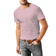 Mouse Ears Polka Dots Pink Mens Cotton Blend T-Shirt XS - 3XL Sublimation All-Ov