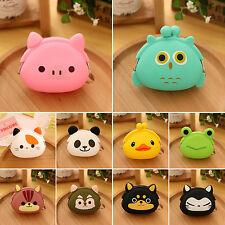 Wallet Kawaii Women Girl Cute Animal Silicone Jelly Coin Purse Handbag Small Bag