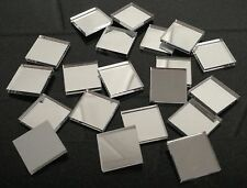 J27 Acrylic Mirror SQUARES Disks Discs Bases Coins Stand Mosaic Tiles Craft