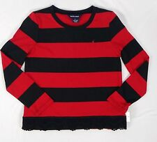 Ralph Lauren Girls Long-Sleeve Striped Lace Top / Shirt size 6