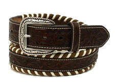 Ariat Western Mens Belt Leather Striped Pattern Brown A1025408