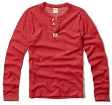 New Hollister By Abercrombie Mens Pacific Long Sleeve Tee T Shirt Red