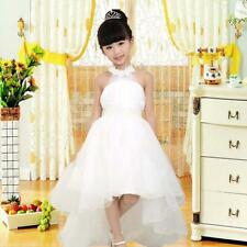 New Girl Bridesmaid Birthday Easter Christmas Party Wedding Dress White Princess