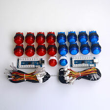 Easyget Arcade Games MAME DIY Kits Part Zero Delay PC Encoder + 18 X LED Buttons