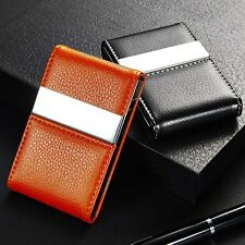 Bifold Wallet Stainless Steel Case Business Name Card ID Credit Cards Holder