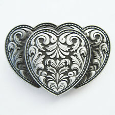 Men Buckle Flower Heart Western Belt Buckle Gurtelschnalle Boucle de ceinture