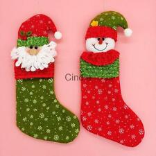 Merry Christmas Stocking Sock Kids Baby Candy Bag Xmas Home Decor Party Favors