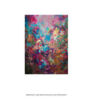 Framed Canvas Art Print Abstract Oil Painting Floral Large