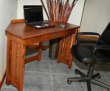 Home Office Corner Computer Desk Solid Oak Mission Style #4547