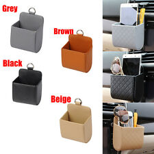 PU Leather Car Auto Outlet Air Vent Trash Case Mobile Phone Holder Bag Pouch