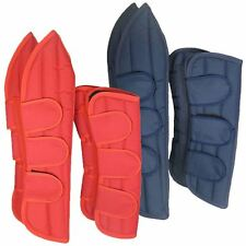 NEW PONY HORSE RIDING PROTECTIVE LEG PAD FLEECE SET OF 4 TRAVEL BOOTS ALL SIZES