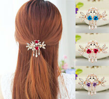 Flower NEW Clip Hairpin Women Jewelry Crystal Rhinestone Tops Hair Barrette