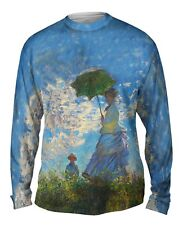 "Yizzam - Monet - ""Woman with a Parasol""-  New Mens Long Sleeve Shirt"