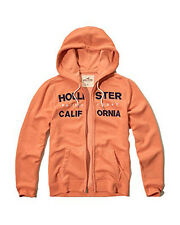 Nwt Hollister By Abercrombie Mens Full Zip and Pullover Hoodie Orange