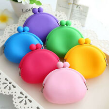 1Pc Cute Silicone Round Coin Purses Wallet Card Rubber Key Frog Design Bag