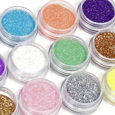 Nail Art 12/18 Colors Glitter Powder Dust Decoration Set For Acrylic Manicure