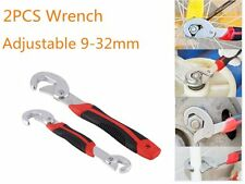 2x Multi-function Adjustable Quick Snap'N Grip Universal Wrench Spanner Lot P5