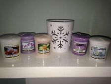 """Yankee Candle Star / Snowflake """"Stems"""" Votive Holder + FREE Votive Candle!!"""