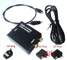 popular Digital Coaxial Toslink Signal to Analog Audio Converter Adapter RCA CJJ