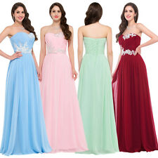 Sexy Chiffon Long Dress Bridesmaid Ball Gown Evening Cocktail Wedding Party Prom