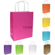 10x Bright Paper Party Gift Bags Wedding Loot Candy Shopping Carrier Retail Bag