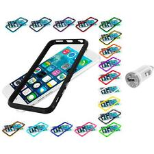 For Apple iPhone 6 (4.7) TPU Bumper Frame Metal Buttons Case USB Charger
