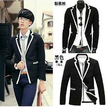 British Mens Boys Fashion Korea Slim Dress 1 Button Collegiate Top Blazer Jacket