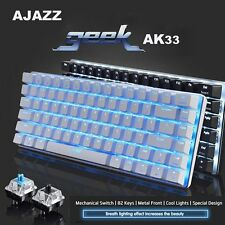 87 Keys Ajazz AK33 USB Wired LED Backlight Ergonomic Gaming Mechanical Keyboard