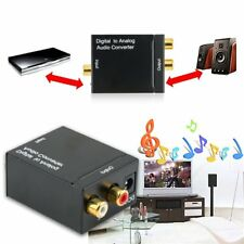 Converter Adapter RCA Digital Optical Coaxial Toslink Signal to Analog Audio JS~