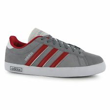 Adidas Derby Vulcan Suede Trainers Mens Grey/Red/White Casual Sneakers Shoes