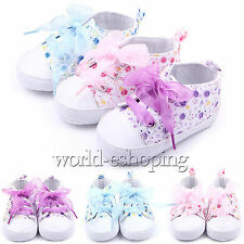 0-18M Baby Kids Girls Crib Shoes Toddler Soft Sole Sneakers Prewalker Flat Boots