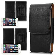 Vertical Leather Belt Clip Waist Holster Pouch Case Cover for Universal Phones