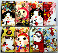 fit iPod touch 4th itouch kitten cat kitty face hard case flower butterfly\