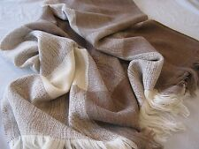 Alpaca & Merino Wool Throw Blanket - Our Sand Throw is All Natural & All Season