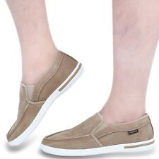 New Summer Canvas Breathable Slip On Sneakers Loafers Mens Leisure Shoes AUS