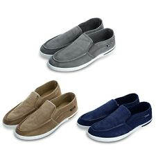 New Summer Canvas Breathable Slip On Sneakers Loafers Mens Leisure Shoes AAU
