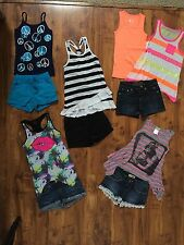 JUSTICE / MUDD / DKNY GIRLS OUTFITS JEAN SHORTS DRESSY TANK TOPS  NWOT SIZE:8