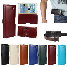 Genuine Leather Belt Loop Clip Waist Holster Case for Apple iPhone 4 5 6 7 plus