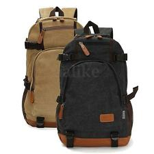 Men Canvas Backpack  School Shoulder Bag Outdoor Hiking Laptop  Rucksack Bookbag