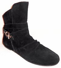 NEW SKECHERS BLACK SUEDE ANKLE BOOTS WITH STRAP & BUCKLE DETAIL