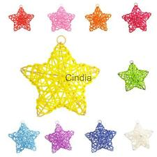 Star Shape Cane Rattan Decoration Party Christmas Tree Hanging Ornament
