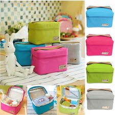Portable Insulated Thermal Cooler Lunch Box Carry Tote Storage Bag Picnic School
