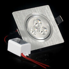100X 3*1W 3*2W Recessed led ceiling light AC85-265V LED Down Light Square Suppor