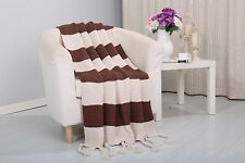 Soft Plush Vintage Knitted Throw Couch Cover Sofa Blanket, 50x60