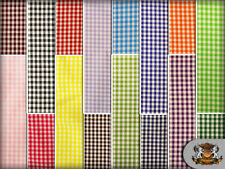 """Poly Poplin Gingham Fabric Mini Checkers / 58"""" Wide / Sold by the yard"""